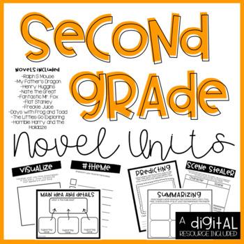 2nd Grade Novel Unit Bundle-Print and GO!