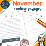 2nd Grade Fluency Passages for November
