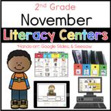 2nd Grade November Literacy Centers
