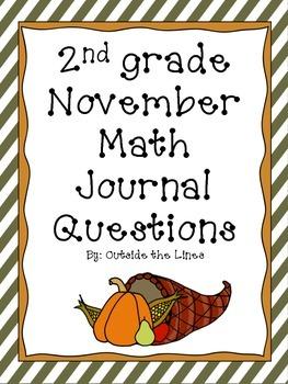 2nd Grade November Math Journal