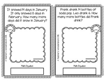2nd Grade November Math Word Problems