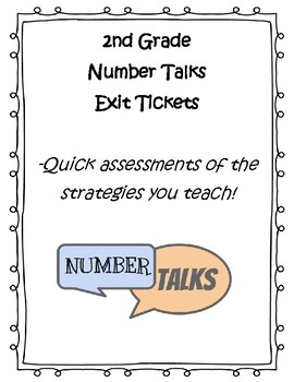 2nd Grade Number Talks Exit Tickets