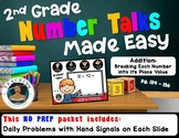 2nd Grade Number Talks Made Easy - Add:Breaking Each Numbe