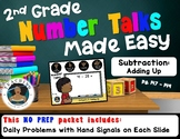 2nd Grade Number Talks Made Easy - Subtraction: Adding Up