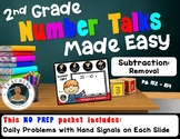 2nd Grade Number Talks Made Easy - Subtraction: Removal