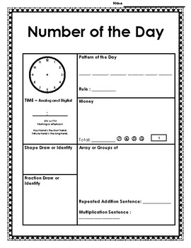 2nd Grade Number of the Day **SPIRAL REVIEW**