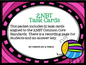 2nd Grade Numbers Base Ten Task Cards