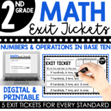 2nd Grade Numbers & Operations in Base Ten Exit Tickets (Exit Slips)