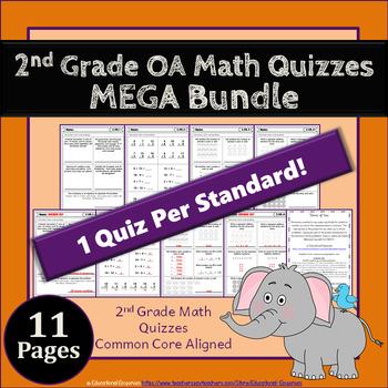2nd Grade OA Quizzes: 2nd Grade Math Quizzes, Operations