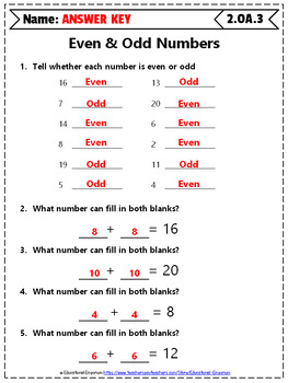 2nd Grade OA Worksheets: 2nd Grade Math Worksheets, Operations & Algebraic