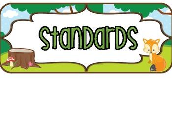 2nd Grade OHIO Woodland Standards