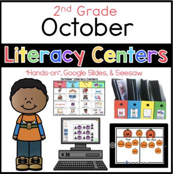 2nd Grade October Literacy Center Menu