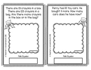 2nd Grade October Math Word Problems