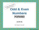 2nd Grade Odd/Even Numbers Posters (2.OA.3)