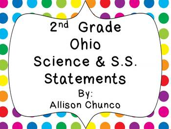 2nd Grade Ohio Common Core Polka Dot Bundled Pack