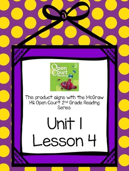 Second Grade Open Court Reading Comprehension and Vocabulary Unit 1 Lesson 4