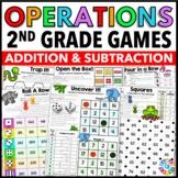 2nd Grade Addition and Subtraction Games for 2.OA.2, 2.NBT.5, 2.NBT.6, 2.NBT.7