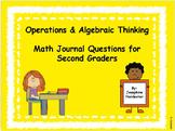 2nd Grade Operations & Algebraic Math Journal Questions