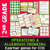 2nd Grade Operations & Algebraic Thinking: 11 Math Partner Games for Common Core