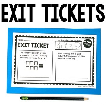 2nd Grade Operations & Algebraic Thinking Exit Tickets
