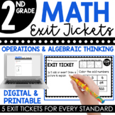 2nd Grade Operations & Algebraic Thinking Exit Tickets (Ex