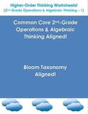 Higher-Order Thinking Worksheets (2nd-Grade Operations & A