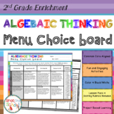 2nd Grade Operations and Algebraic Thinking Choice Board – Enrichment Math Menu