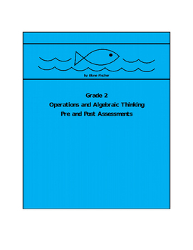 2nd Grade Operations and Algebraic Thinking Pre and Post Assessment Bank