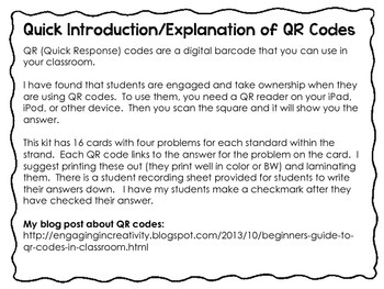 2nd Grade Operations and Algebraic Thinking QR Code Cards (2.OA)