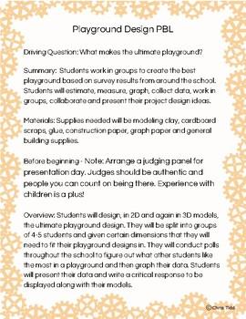 2nd Grade PBL: Playground Design