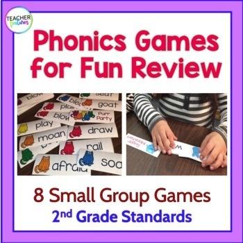 2nd Grade PHONICS & GRAMMAR GAMES BUNDLE