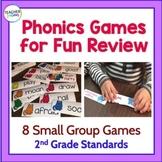 PHONICS GAMES   GRAMMAR ACTIVITIES   2nd Grade BUNDLE