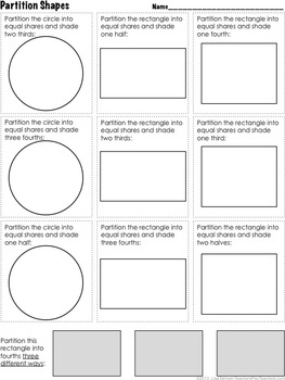 2nd grade partition circles rectangles common core 2 g 3 by lisa tarman. Black Bedroom Furniture Sets. Home Design Ideas