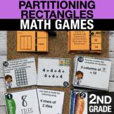 2nd Grade Partitioning Rectangles Math Centers   Math Games 2.G.2