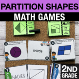 2nd Grade Partitioning Shapes Math Centers   Math Games 2.G.3