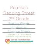 2nd Grade Pearson Reading Street Spelling Word Handwriting