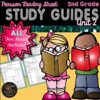 2nd Grade Reading Street Unit 2 Weekly Study Guides