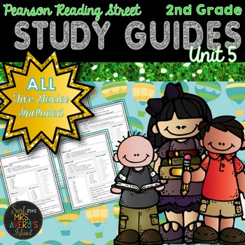 Reading Street Unit 5 Study Guides 2nd Grade