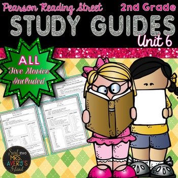 2nd Grade Reading Street Unit 6 Weekly Study Guides