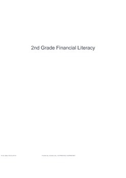 2nd Grade Personal Financial Literacy Exam (TEKS 2.11A, 2.11B, 2.11C)