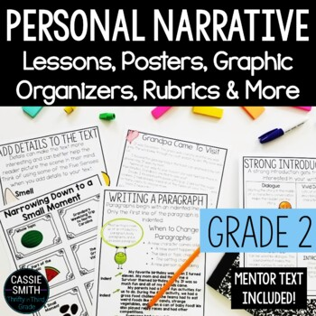 Second Grade Personal Narratives Worksheets & Teaching