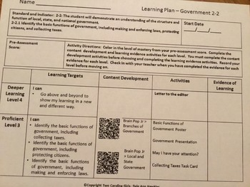 2nd Grade Personalized Learning Social Studies Bundle-South Carolina Standards