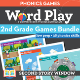 2nd Grade Phonics Games Bundle • Words Their Way Games • Word Work Centers
