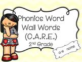 2nd Grade Phonics Key Word Wall (C.A.R.E.)