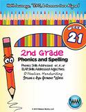 2nd Grade Phonics & Spelling D'Nealian Week 21 (R-Controlled Vowels– er, ir, ur)