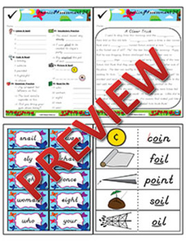 2nd Grade Phonics & Spelling D'Nealian Week 29 (Longer Words with ā & ī, oi, oy)