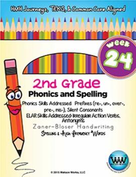 2nd Grade Phonics & Spelling Zaner-Bloser Week 24 (Prefixes, Silent Consonants)
