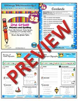 2nd Grade Phonics & Spelling Zaner-Bloser Week 32 (Review Digraphs/Combinations)