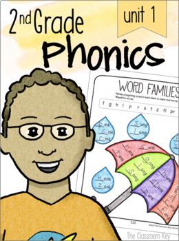2nd Grade Phonics Unit 1 -  vowel sounds, blends, digraphs, & glued sounds