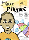 2nd Grade Phonics Unit 1 -  vowel sounds, blends, digraphs, & glued sounds